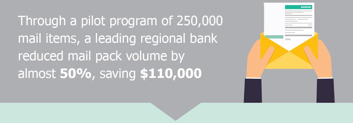 A leading regional bank saved $110,000