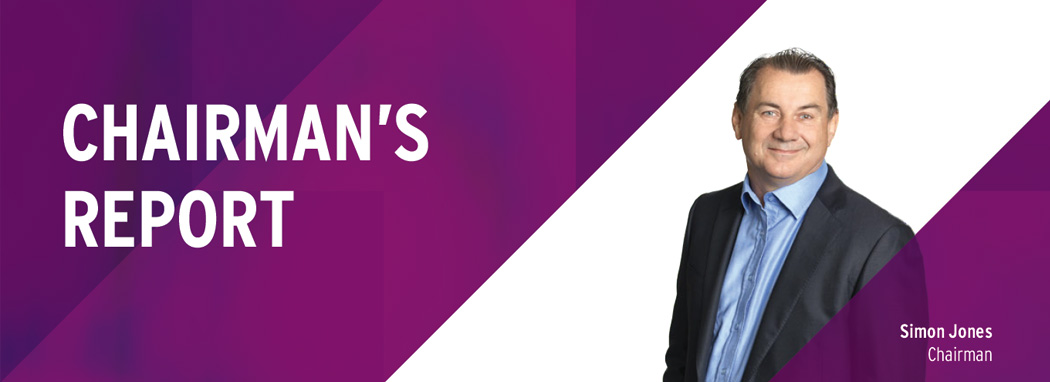 Chairman's Report, Simon Jones